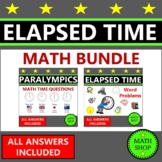 Elapsed Time Math Word Problems Time Zones Worksheets Paralympics Olympics Tokyo