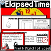 Elapsed Time Multiple Choice Word Problem Math Task Cards