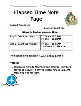 Elapsed Time Note Page