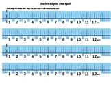 Elapsed Time Number Line Student Ruler