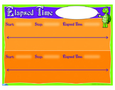 """Elapsed Time On A Number Line Anchor Chart- 18"""" x 23"""""""