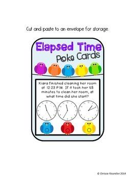 Elapsed Time Poke Card Set
