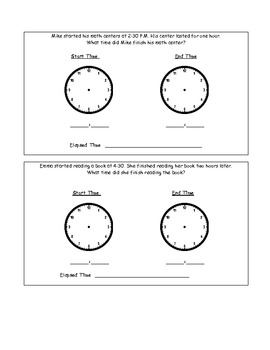 Elapsed Time Practice Packet