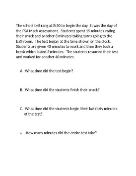 Elapsed Time Practice Problems