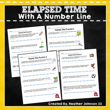 Elapsed Time Practice With Numberline