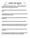 Elapsed Time Practice Worksheet (Word Problems)