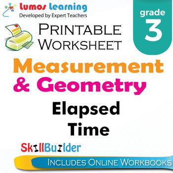 *Elapsed Time Printable Worksheet, Grade 3