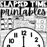 Elapsed Time Printables   Time to the hour and half hour