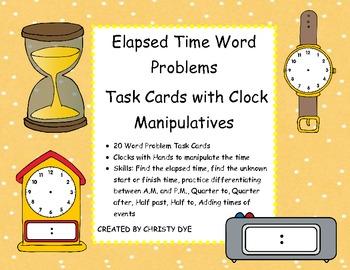 elasped time word problems pdf