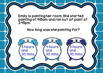 Elapsed Time Problems Using Interactive Task Cards - Boom Cards