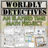 Elapsed Time Math Project   Distance Learning   Google Classroom