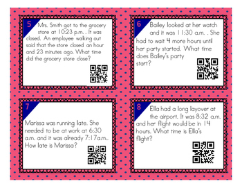 Elapsed Time QR Code Task Cards