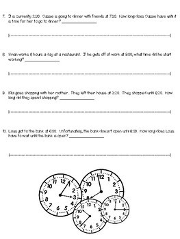 Elapsed Time Quiz