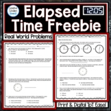 Elapsed Time Real World Problems Freebie