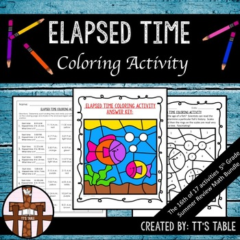 Elapsed Time Review Coloring Activity