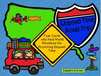 Elapsed Time Road Trip Task Cards