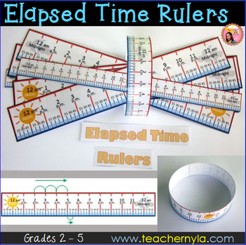 Elapsed Time Rulers - 12 hour and 24 hour Time Spans