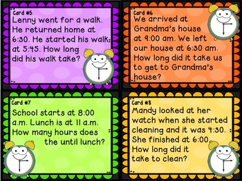 Elapsed Time SCOOT Game - grades 2 - 4