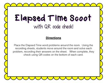 Elapsed Time Scoot (with QR codes)