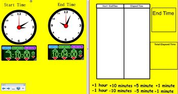 Elapsed Time Smart Notebook Activity
