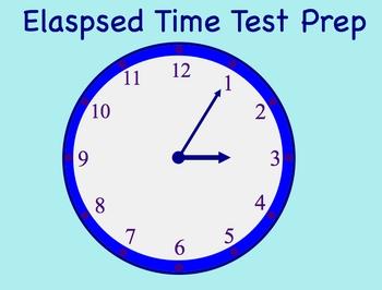 Elapsed Time Smartboard Test Prep Math Lesson