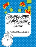 Elapsed Time Story Problem Board Game and Matching
