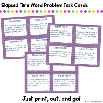 Elapsed Time Story Problems - Differentiated