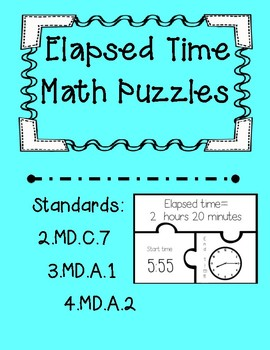 Elapsed Time Task Card Puzzles