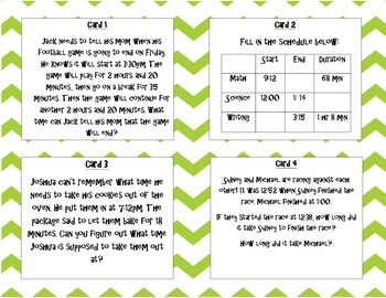 Elapsed Time Task Card Scoot