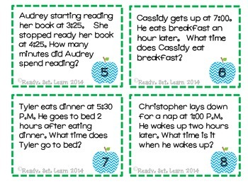 Elapsed Time Task Card Twist - SOL 3.11 Elapsed Time To the Hour