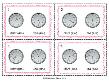 Elapsed Time Task Cards