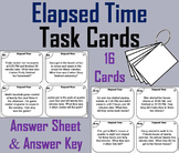 Elapsed Time Task Cards/ Elapsed Time Word Problems Task Cards 3rd 4th 5th Grade