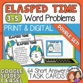 Elapsed Time Word Problem Task Cards - Math Story Problems, Double Set!