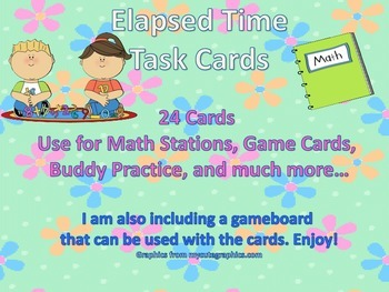 Elapsed Time Task Cards Activity Packet
