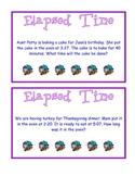 Elapsed Time Task Cards B CCGPS