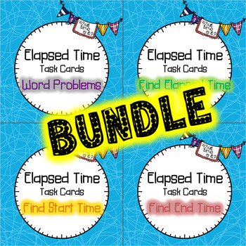 Elapsed Time Task Cards BUNDLE