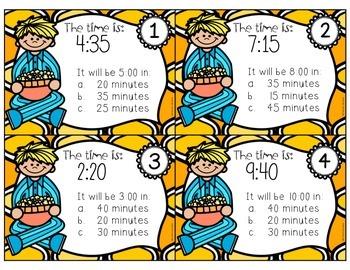 Elapsed Time Task Cards BUNDLE {6 task card activities}