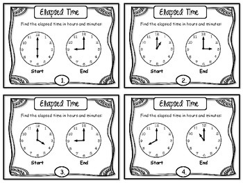 elapsed time task cards free by more time 2 teach tpt. Black Bedroom Furniture Sets. Home Design Ideas