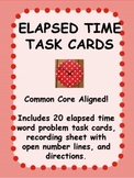Elapsed Time Task Cards FREE Common Core