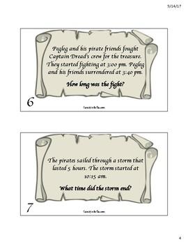 Elapsed Time Task Cards - Finding Treasure