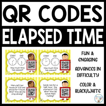 Elapsed Time Task Cards - Hour and Half Hour – with QR codes