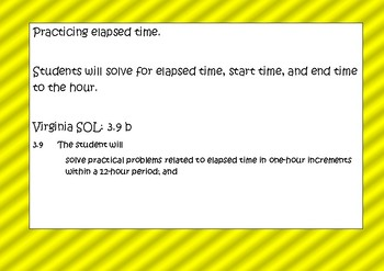 Elapsed Time Task Cards (Hours Only)