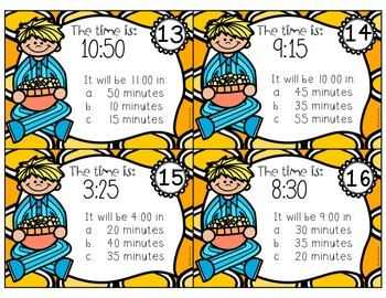 Elapsed Time Task Cards {Set 2 - Time POPS by!}