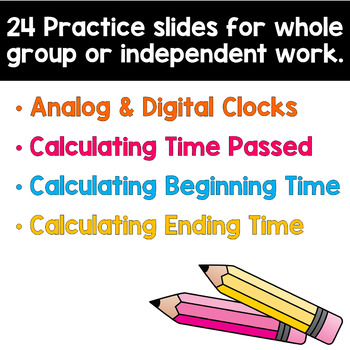 Elapsed Time Task Cards Paperless Digital