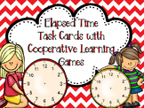 Editable Elapsed Time Task Cards PLUS Cooperative Learning Activities