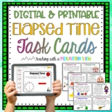 Elapsed Time Task Cards   Google Classroom   Distance Learning