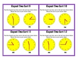 Elapsed Time Task Cards Telling Time Reading Clock