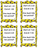Elapsed Time Task Cards (Within the Hour)-CCSS Aligned