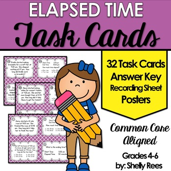 Elapsed Time Task Cards and Poster Set
