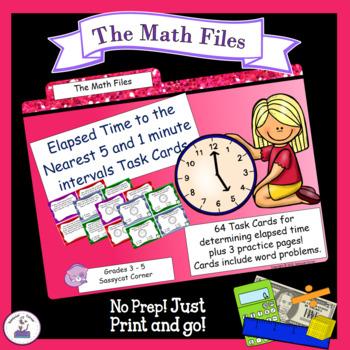 Elapsed Time Task Cards and Worksheet Set